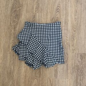 Vici Gingham Ruffle Skirt